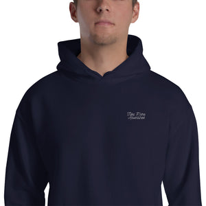 "The ""TMA Script"" Embroidered Hoodie - Navy"