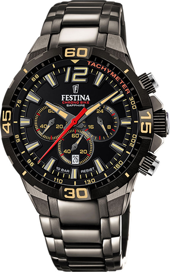 Festina Chrono bike, 100 m,Limited,lenke,grå F20527-1