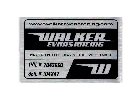 Walker Evans - Metallic Reservoir Decal