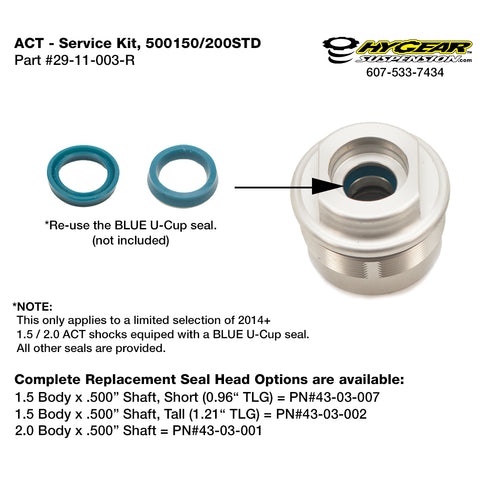 ACT - Service Kit, 500150/200STD, Gen 2, ACT