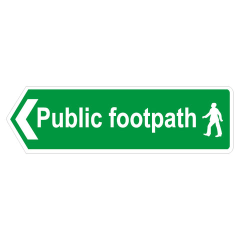 Public Footpath Sign Left Arrow - Safety Signs & Stickers | Borehamwood Signs