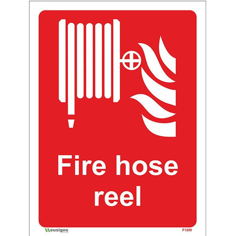 Fire Hose Reel Sign - Heath and Safety Signs, Warning Signs, Emergency Signs, Fire Exit,Stop Signs, Borehamwood Signs