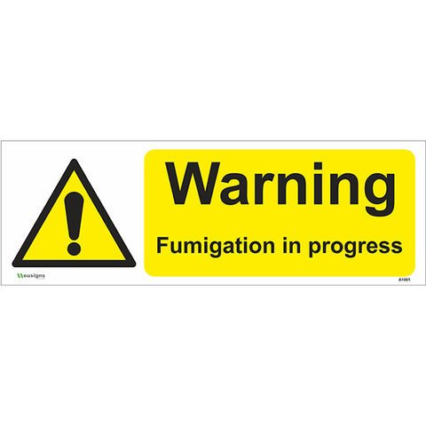 Warning Fumigation In Progress Sign - Safety Signs & Stickers | Borehamwood Signs