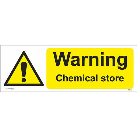 Warning Chemical Store Sign - Safety Signs & Stickers | Borehamwood Signs