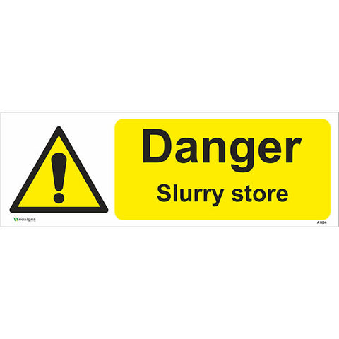 Danger Slurry Store Sign - Safety Signs & Stickers | Borehamwood Signs