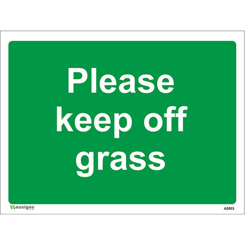 Please Keep Off  Grass Sign - Safety Signs & Stickers | Borehamwood Signs