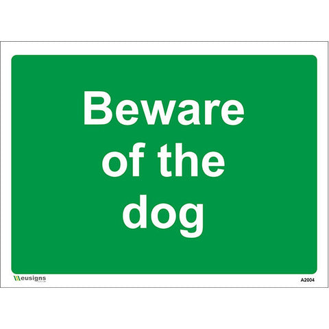Beware Of The Dog Sign - Safety Signs & Stickers | Borehamwood Signs