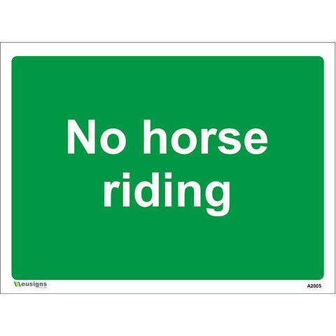 No Horse Riding Sign - Safety Signs & Stickers | Borehamwood Signs