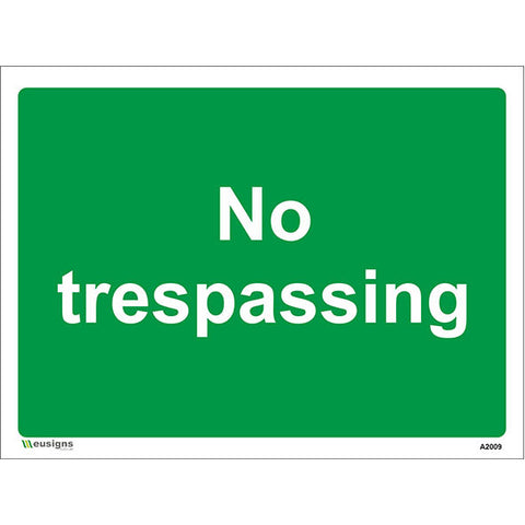 No Trespassing Sign - Safety Signs & Stickers | Borehamwood Signs