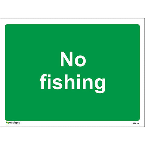 No Fishing Sign - Safety Signs & Stickers | Borehamwood Signs