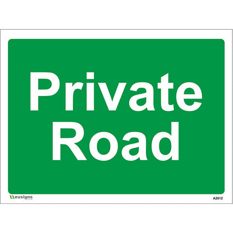 Private Road Sign - Safety Signs & Stickers | Borehamwood Signs