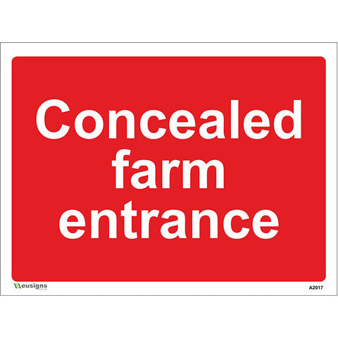Concealed Farm Entrance Sign - Safety Signs & Stickers | Borehamwood Signs