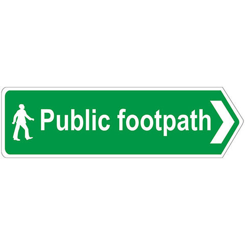 Public Footpath Sign Right Arrow - Safety Signs & Stickers | Borehamwood Signs