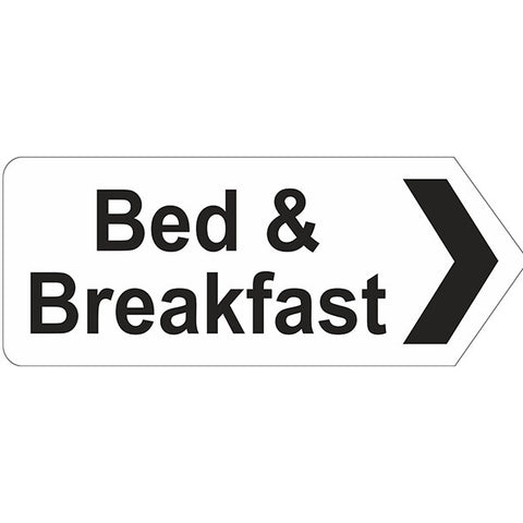 Bed & Breakfast Right Arrow Sign - Heath and Safety Signs|Warning Signs|Emergency Signs|Fire Exit|Hazard Signs|Safety|Stickers|Borehamwood Signs