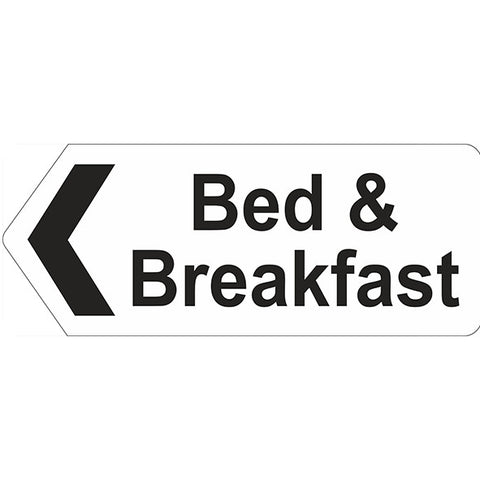 Bed & Breakfast Left Arrow Sign - Heath and Safety Signs, Warning Signs, Emergency Signs, Fire Exit,Stop Signs, Borehamwood Signs