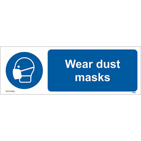 Wear Dust Masks Sign - Safety Signs & Stickers | Borehamwood Signs