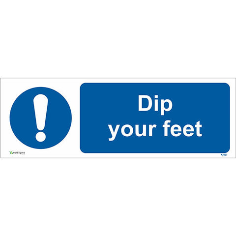 Dip Your Feet Sign - Safety Signs & Stickers | Borehamwood Signs