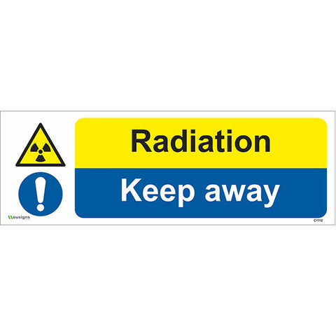 Radiation Keep Away Sign - Safety Signs & Stickers | Borehamwood Signs