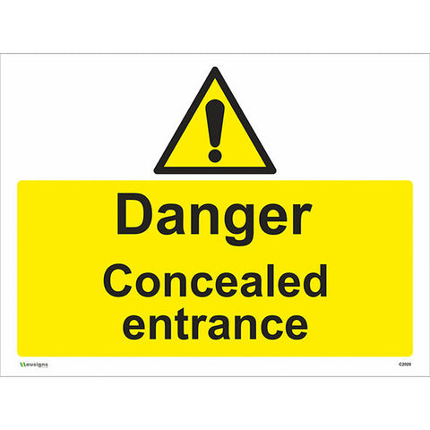 Danger Concealed Entrance Sign - Safety Signs & Stickers | Borehamwood Signs
