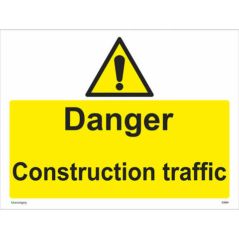 Danger Construction Traffic Sign - Safety Signs & Stickers | Borehamwood Signs