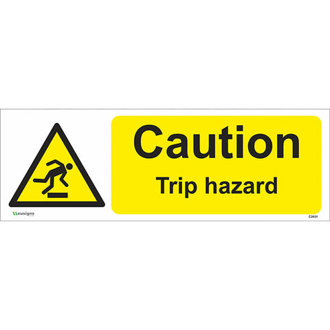 Caution Trip Hazard Sign - Safety Signs & Stickers | Borehamwood Signs