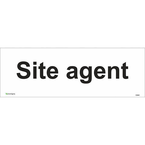 Site Agent Sign - Safety Signs & Stickers | Borehamwood Signs