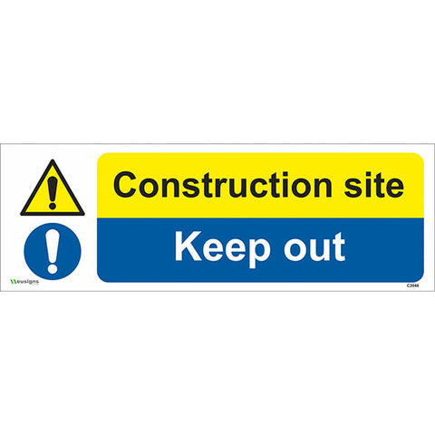 Construction Site Keep Out Sign - Safety Signs & Stickers | Borehamwood Signs
