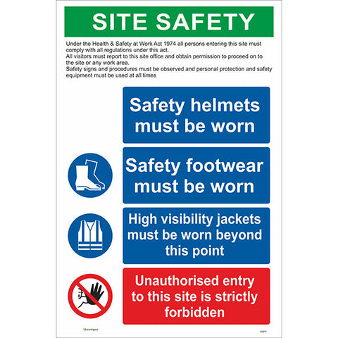 Site Safety Sign/PPE and Unauthorised Enrty - Safety Signs & Stickers | Borehamwood Signs