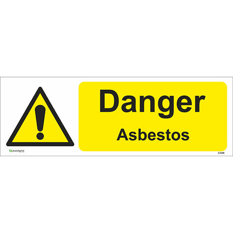 Danger Asbestos Sign - Safety Signs & Stickers | Borehamwood Signs