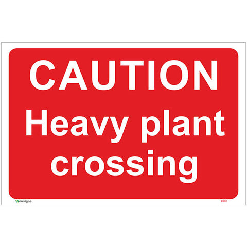 Caution Heavy Plant Crossing Sign - Safety Signs & Stickers | Borehamwood Signs
