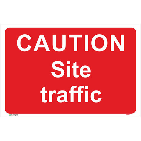 Caution Site Traffic Sign - Safety Signs & Stickers | Borehamwood Signs