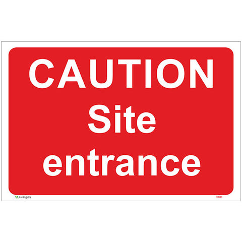 Caution Site Entrance Sign - Safety Signs & Stickers | Borehamwood Signs