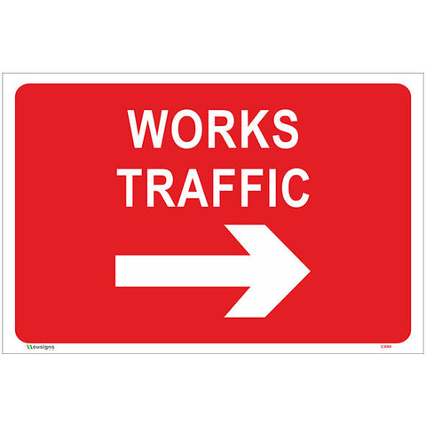 Works Traffic Right Arrow Sign - Safety Signs & Stickers | Borehamwood Signs