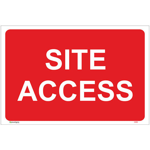 Site Access Sign - Safety Signs & Stickers | Borehamwood Signs