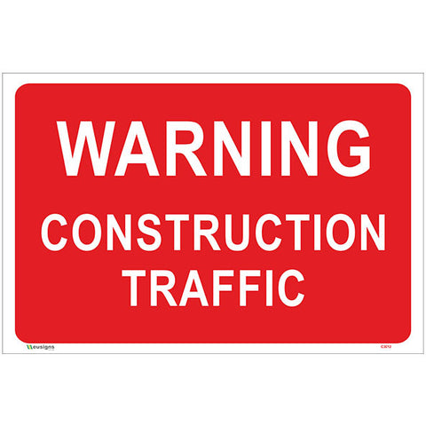 Warning Construction Traffic Sign - Safety Signs & Stickers | Borehamwood Signs