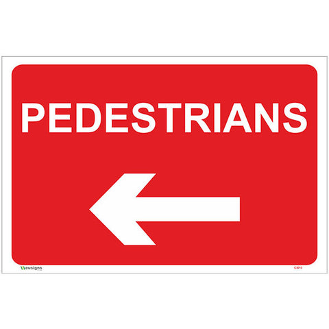 Pedestrians Left Arrow Sign - Safety Signs & Stickers | Borehamwood Signs