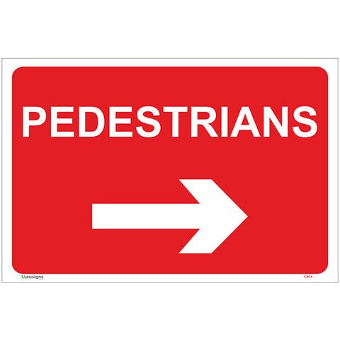 Pedestrians Right Arrow Sign - Safety Signs & Stickers | Borehamwood Signs