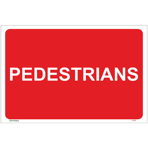 Pedestrians Sign - Safety Signs & Stickers | Borehamwood Signs