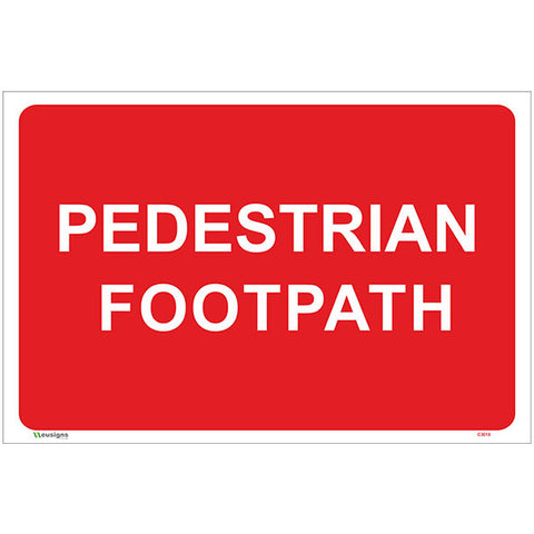 Pedestrian Footpath Sign - Safety Signs & Stickers | Borehamwood Signs