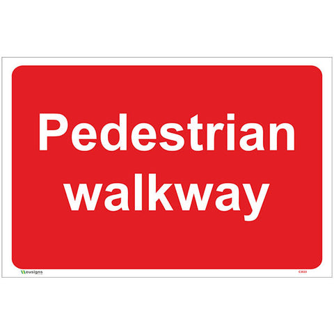 Pedestrian Walkway Sign - Safety Signs & Stickers | Borehamwood Signs