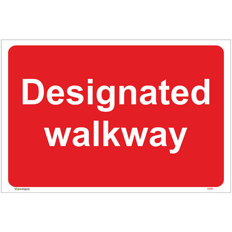 Designated Walkway Sign - Safety Signs & Stickers | Borehamwood Signs