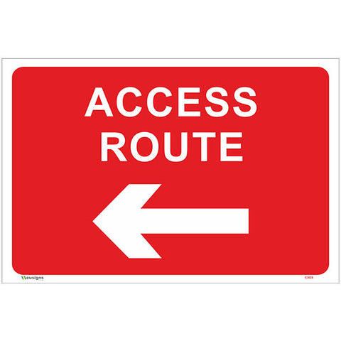 Access Route Left Arrow Sign - Safety Signs & Stickers | Borehamwood Signs