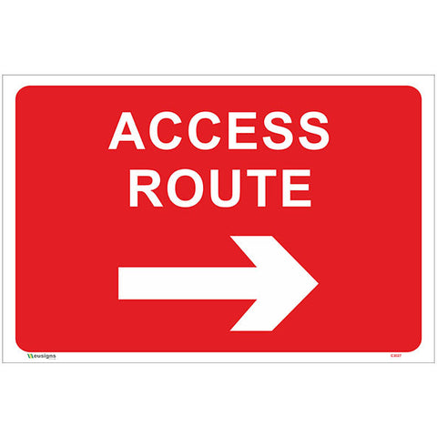 Access Route Right Arrow Sign - Safety Signs & Stickers | Borehamwood Signs