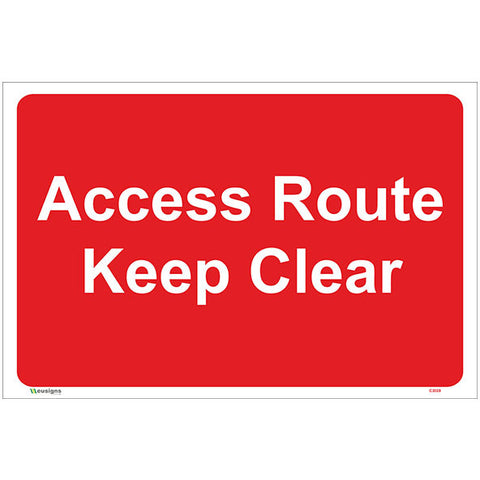 Access Route Keep Clear Sign - Safety Signs & Stickers | Borehamwood Signs