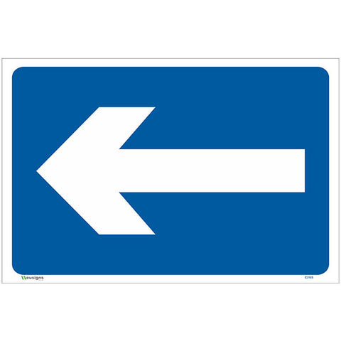 Left Directional Arrow Sign - Safety Signs & Stickers | Borehamwood Signs