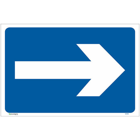 Right Directional Arrow Sign - Safety Signs & Stickers | Borehamwood Signs