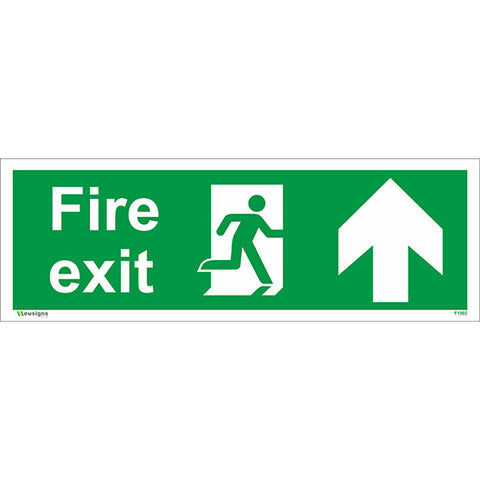 Fire Exit Arrow Up Sign - Health and Safety Signs
