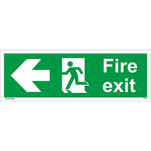 Fire Exit Arrow Left Sign - Health and Safety Signs