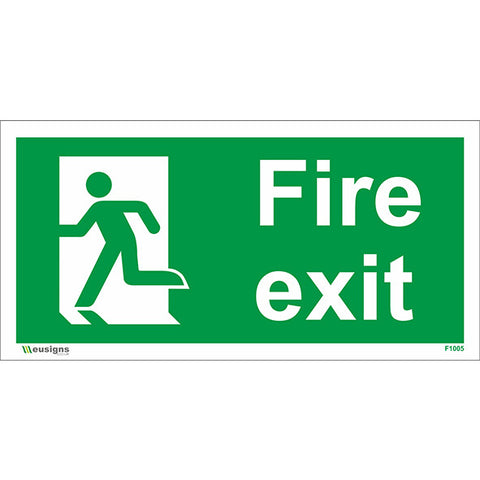 Final Fire Exit Running Man Left Sign - Safety Signs & Stickers | Borehamwood Signs