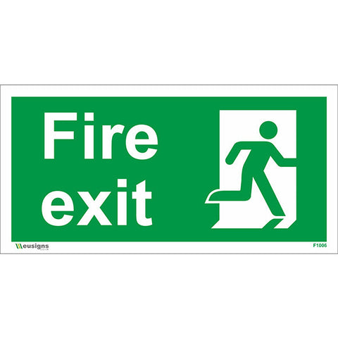 Final Fire Exit Running Man Right Sign - Health and Safety Signs